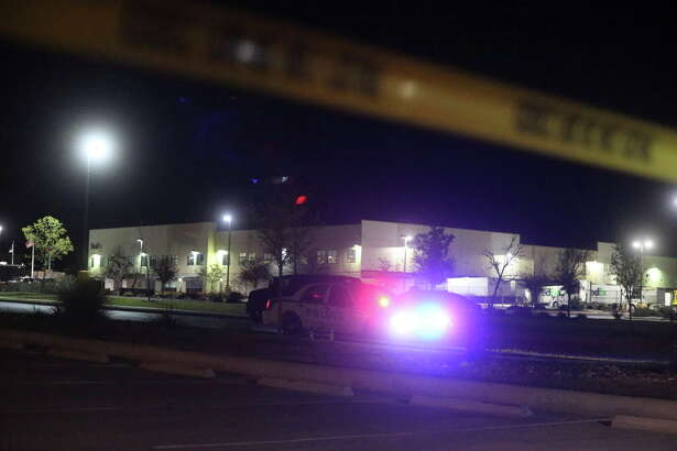 Police are staged Tuesday March 20, 2019 at the Fed Ex ground facility in Schertz, Texas where a package blew up. This is the 5th bombing in Texas this month. Authorities are looking to see if there is a connection between this explosion and the previous ones in Austin.