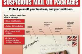 Here's what to look for if you think you've received a suspicious package:  