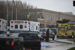 Emergency responders are seen on March 20, 2018 at Great Mills High School in Lexington Park, Maryland after a shooting at the school. A shooting took place at a high school in the eastern US state of Maryland on Tuesday, officials said, reportedly leaving several people injured just days before a nationwide student-organized march against school violence. Three people were shot in the incident at Great Mills High School, located about a 90-minute drive southeast of the US capital Washington, according to a county official quoted by The Baltimore Sun.Three people, including the assailant, were in critical condition after a shooting at a high school in the eastern US state of Maryland on Tuesday, officials said.  / AFP PHOTO / JIM WATSONJIM WATSON/AFP/Getty Images