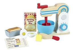 Melissa & Doug Wooden Make-a-Cake Mixer Set (11 pcs) – Play Food and Kitchen Accessories: $15.16 (was $24.99).