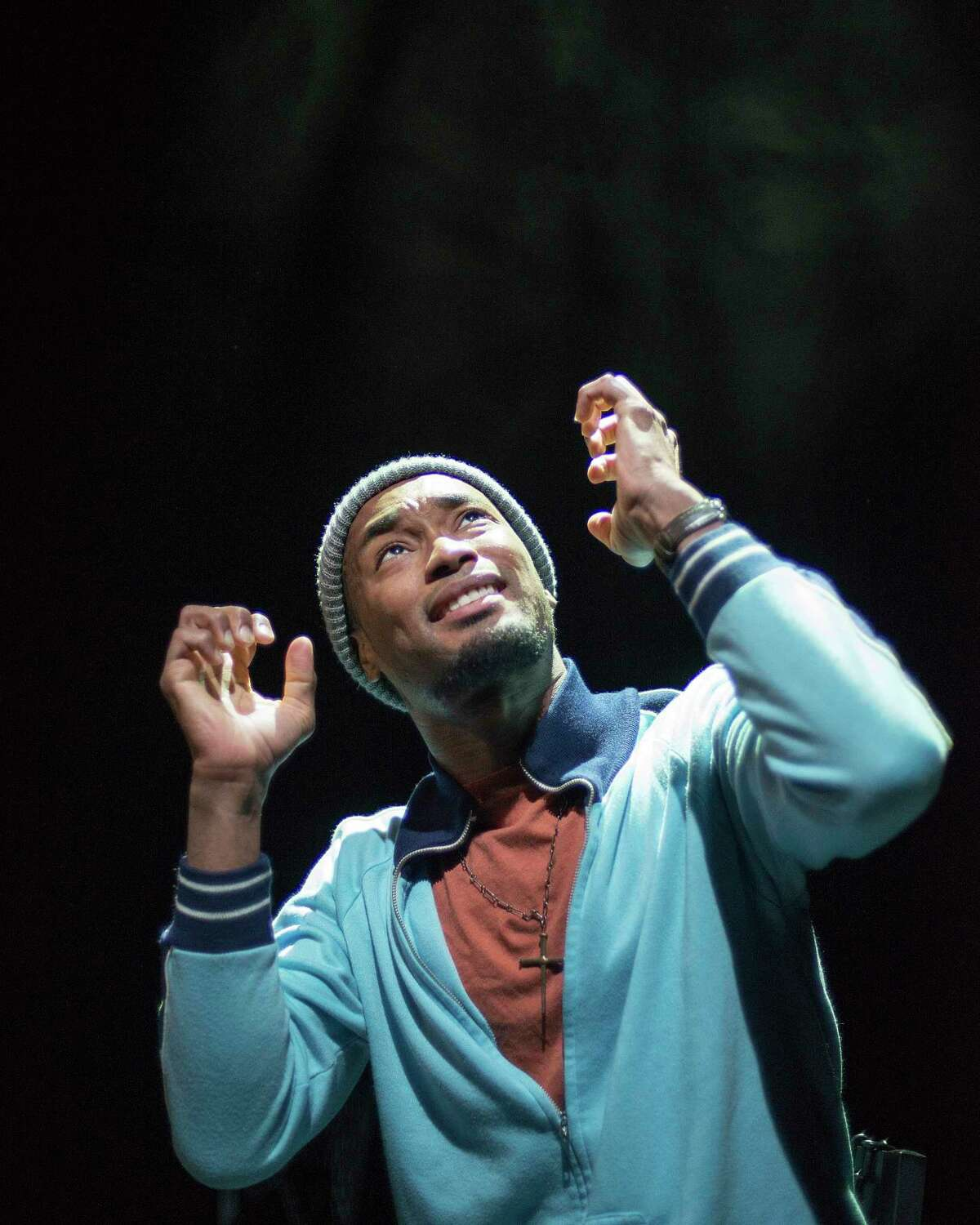 """Andraes Hunt as David in Dirt Dogs Theatre Company's """"The Exonerated."""""""