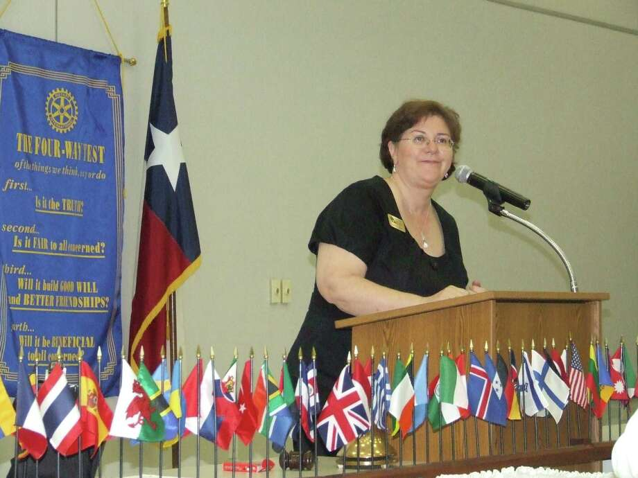 Carole Little, chief executive officer of Northwest Assistance Ministries, spoke to the Rotary Club of Tomball about the work NAM does.  Carole Little, chief executive officer of Northwest Assistance Ministries, spoke to the Rotary Club of Tomball about the work NAM does. Photo: Anna Schumann / The Potpourri