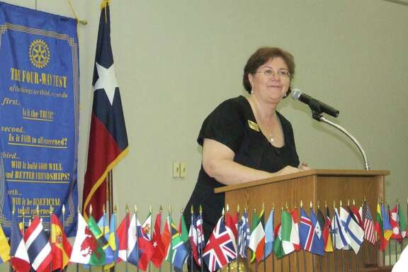 Carole Little, chief executive officer of Northwest Assistance Ministries, spoke to the Rotary Club of Tomball about the work NAM does.  Carole Little, chief executive officer of Northwest Assistance Ministries, spoke to the Rotary Club of Tomball about the work NAM does.