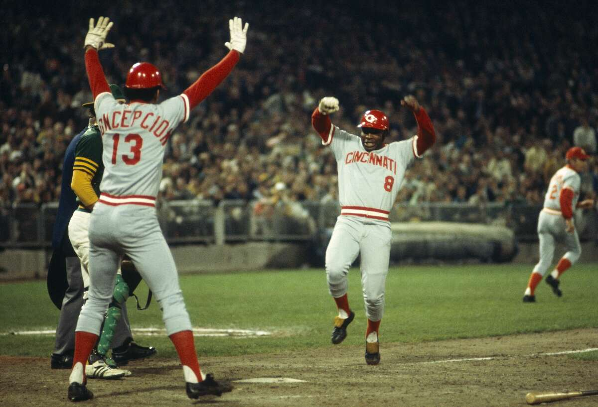 1. Joe Morgan/Dave Concepcion, 1972-79 Cincinnati Reds Total WAR: 86.5 Average annual WAR: 10.81 Peak WAR average: 13.75 Balance: 67 (Morgan)/33 (Concepcion) Championships: 1975, 1976 (plus 1972 NL pennant) Here's another reminder of the worst trade the Astros ever made. Upon joining Cincinnati in 1972, Morgan established himself as one of baseball's best players, slashing .288/.415/.470 in his eight years with the Reds while averaging 102 runs and 51 steals. The Hall of Famer was NL MVP in 1975 and 1976 and finished fourth, fourth and eighth in the voting from 1972-74. He also was an All-Star in all eight of his Reds seasons and copped five Gold Gloves. During their eight years together, Concepcion was a seven-time All-Star selection and five-time Gold Glove recipient. In a decade when teams often regarded offense from a shortstop as a bonus, he averaged 61 runs, 68 RBIs and 25 steals from 1972-79. Add Hall of Fame catcher Johnny Bench and center fielder Cesar Geronimo (acquired in the same Astros deal as Morgan) and you might have the strongest team ever up the middle.