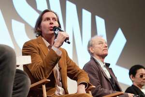 "AUSTIN, TX - MARCH 17:  Wes Anderson and Bill Murray attend the ""Isle of Dogs"" Premiere - 2018 SXSW Conference and Festivals at Paramount Theatre on March 17, 2018 in Austin, Texas.  (Photo by Matt Winkelmeyer/Getty Images for SXSW)"