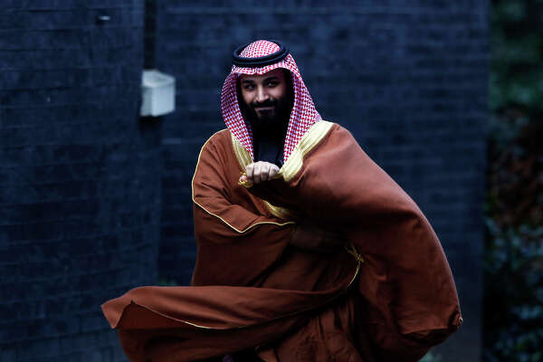 Mohammed bin Salman, Saudi Arabia's crown prince, arrives to meet Theresa May, U.K. prime minister, at No. 10 Downing Street in London on March 7, 2018.