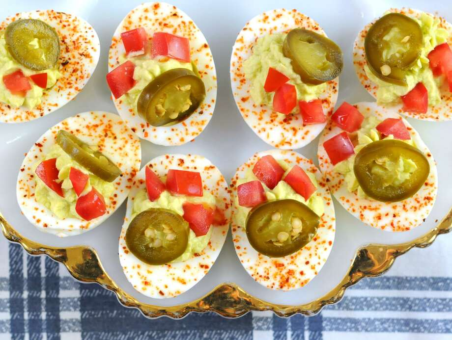 Deviled eggs inspired by the flavors of San Antonio. Photo: Paul Stephen /San Antonio Express-News
