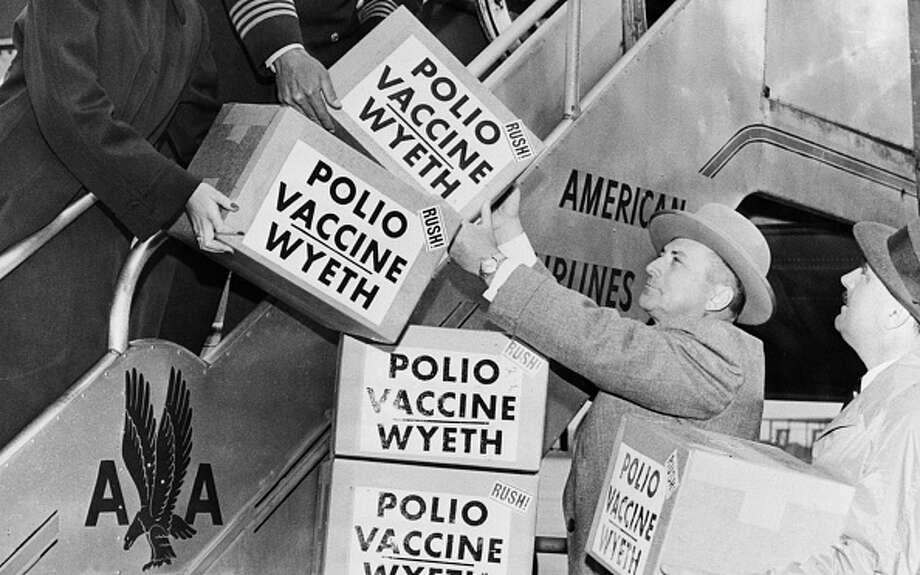 Polio Vaccine Being Shipped To Europe, 1955. Photo: Universal History Archive/UIG Via Getty Images