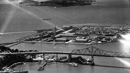 Aerial photos of the Golden Gate International Exposition on Treasure Island, 1939