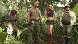 "Kevin Hart, Dwayne Johnson, Karen Gillan and Jack Black are all in the game in ""Jumanji: Welcome to the Jungle."""