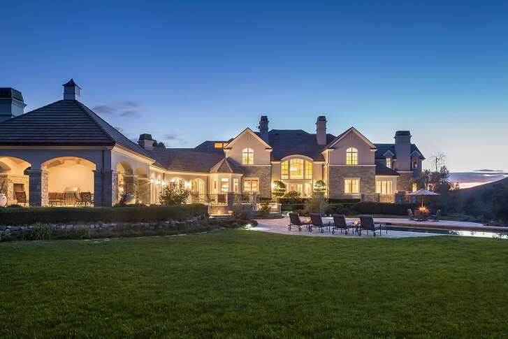 The Danville home rests on 4.9 acres.