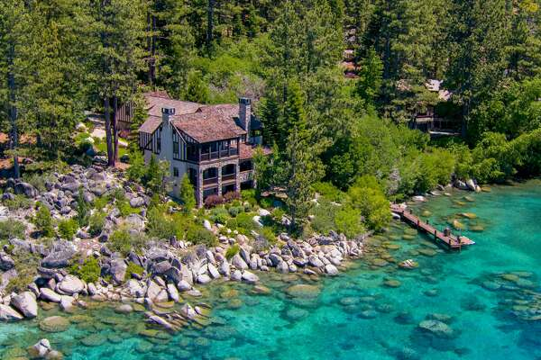 A lakefront estate known as Stone Brook on the Nevada side of Tahoe's east shore is on the market for $10.9 million.