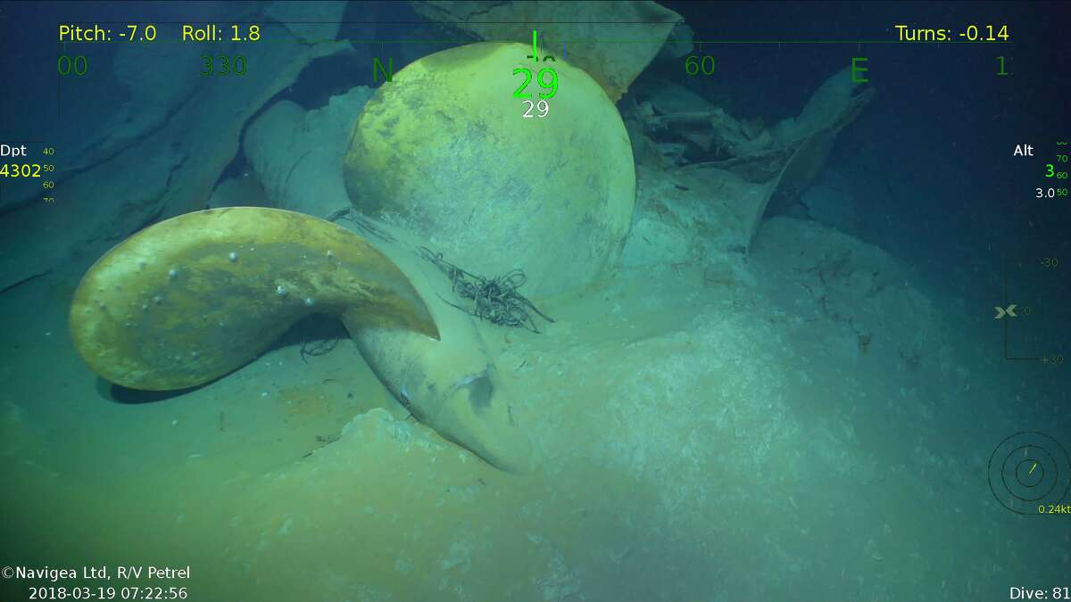 This underwater image shows a propeller of the USS Juneau, discovered last week by Paul Allen's research ship, the R/V Petrel.Scroll through to see other amazing undersea shipwreck discoveries.