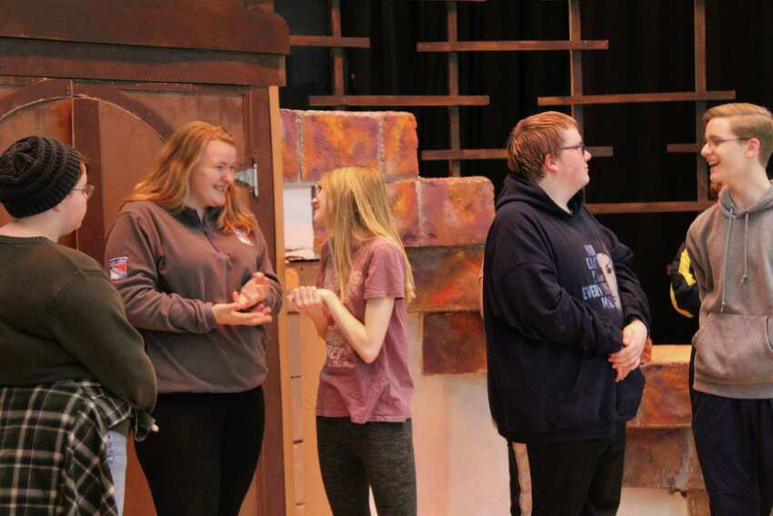 Rehearsals for Warrensburg High School's production of