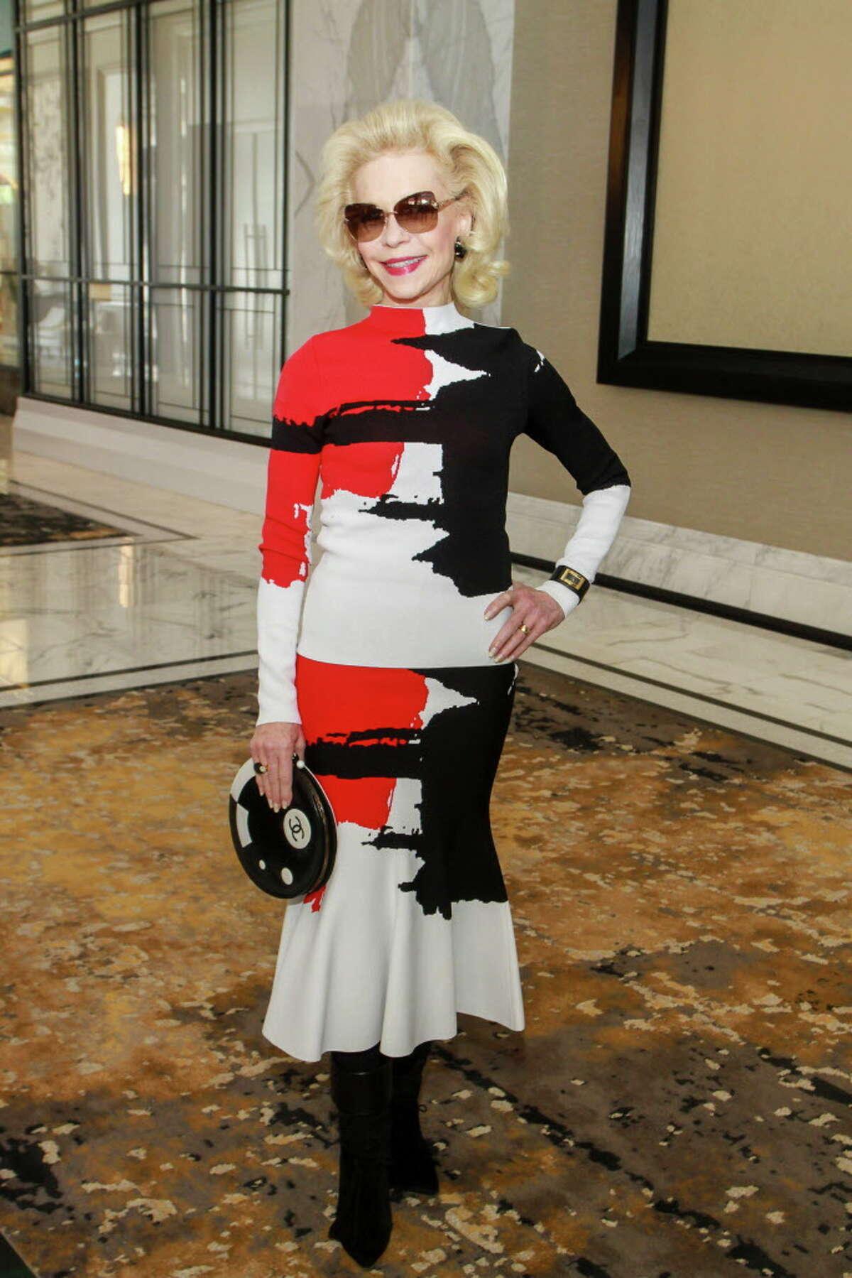 Lynn Wyatt at the Houston Chronicle Best Dressed Luncheon and Neiman Marcus Fashion Presentation.