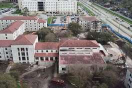 The Quadrangle, UH's oldest housing, is being demolished to make way for newer housing.