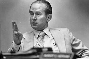 09/24/1980 - Metro board chairman Dan Arnold during MTA's public budget hearings.