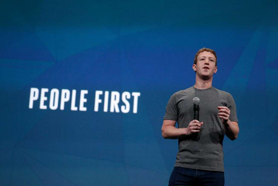 """At a 2014 event where Facebook unveiled tighter restrictions on developers, Zuckerberg pitched the changes as a """"people first"""" philosophy. Photo: Lea Suzuki, The Chronicle"""