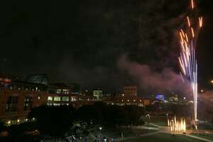 Fireworks at the Reimagining the UTSA Downtown Campus and Celebrating 20 Years event held Monday Nov. 13, 2017 at the campus.