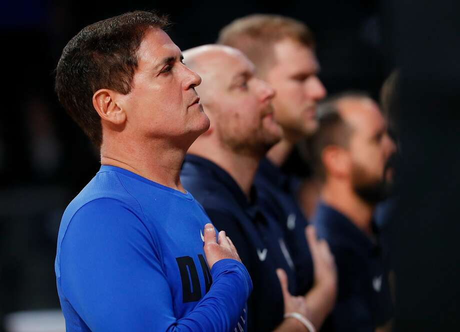 ATLANTA, GA - OCTOBER 12:  Mark Cuban, owner of the Dallas Mavericks, stands during the National Anthem prior to the game against the Atlanta Hawks at McCamish Pavilion on October 12, 2017 in Atlanta, Georgia. (Photo by Kevin C. Cox/Getty Images) Photo: Kevin C. Cox/Getty Images