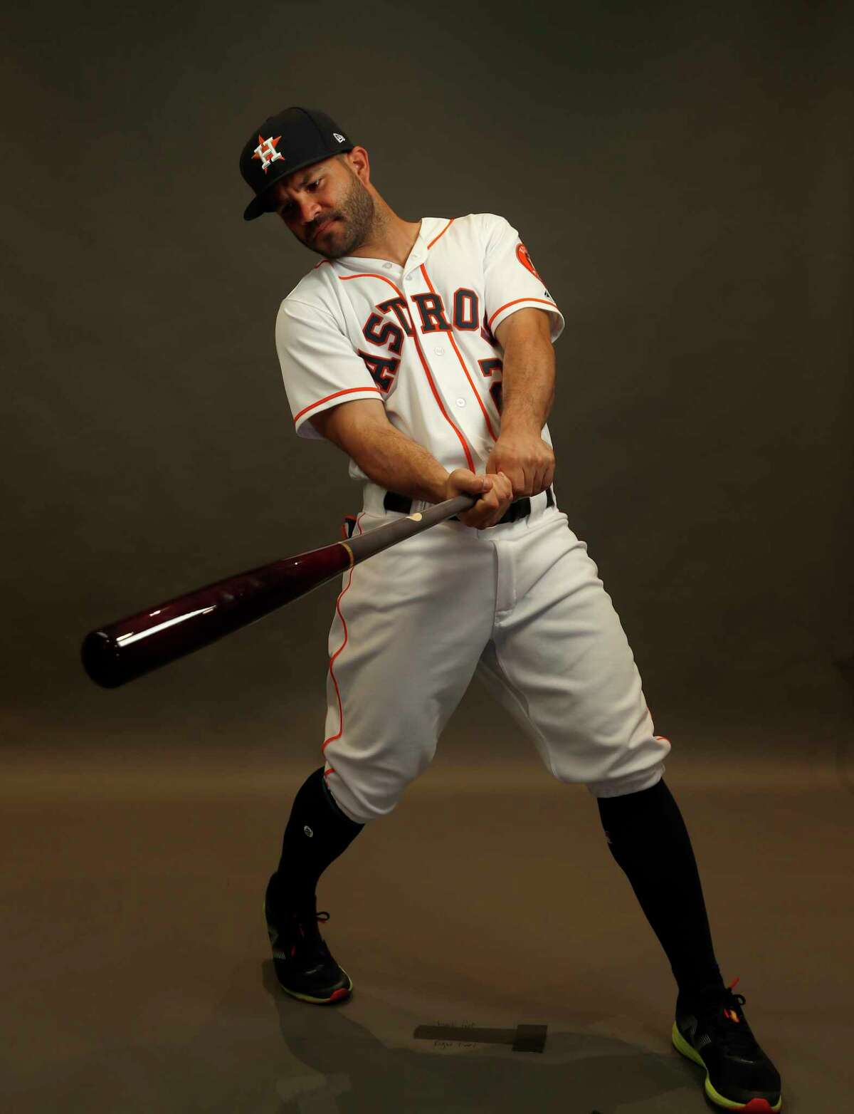 Houston Astros second baseman Jose Altuve (27) during photo day at spring training at The Ballpark of the Palm Beaches, Wednesday, Feb. 21, 2018, in West Palm Beach.