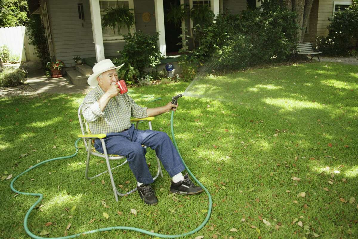 Watering with a hand-held hose is allowed any time on any day.
