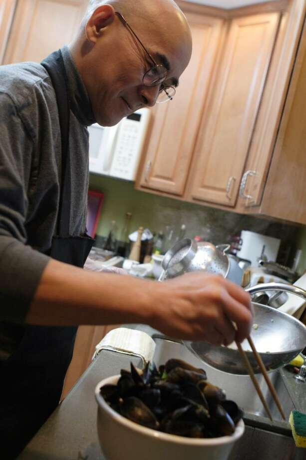 At home with sushi chef Yasuo Saso. (Suzanne Kawola / Times Union) Photo: Photos By Suzanne Kawola / Times Union/Life@Home magazine June 2010