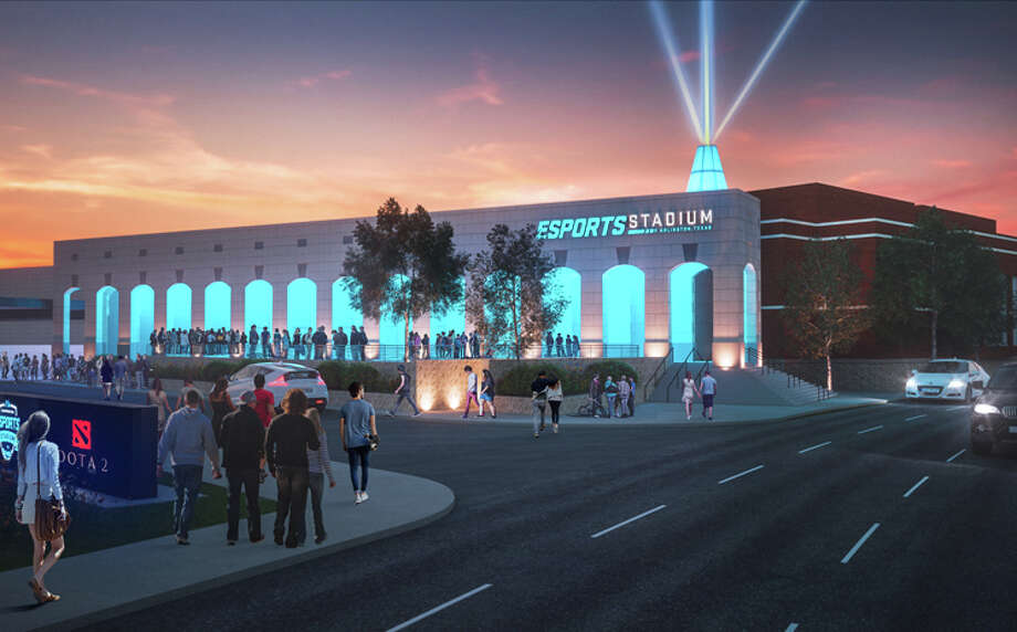 Artist rendering of the new Esports Stadium set to be built in Arlington, Texas.