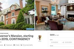 Candidate for governor Mark Stewart Greenstein has listed the Governor's Mansion on the website AirBNB, which allows homeowners to rent out rooms or an entire house.