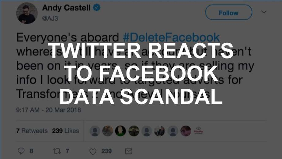 Check out the gallery to see reactions to the #DeleteFacebook scandal. Photo: Twitter Screencap