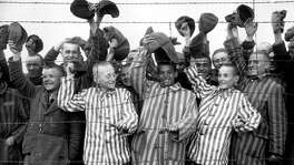During and after WWII, we were the country that with ideals and ferocity defeated pure evil, the kind that imprisoned Jews and others at Dachau. Here the prisoners cheer their liberators of the 42nd Rainbow Division of the 7th U.S. Army in May 1945. Trump has taken all that idealism and striving for a better world away.