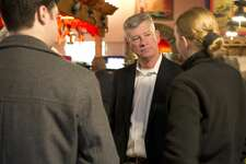 Midlanders talk with Police Chief Steve Henry Jan. 25 during a meet-and-greet at Rosa's Café. Henry, who assumed the position on Jan. 1, will be on administrative leave while a formal complaint against him is investigated, the city spokeswoman said Tuesday.