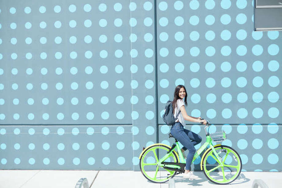 LimeBike, a California-based, dockless bicycle-sharing service, is rapidly expanding its territory, including to Alton. The company, however, has not yet set a date for the service to begin in Alton. Photo: For The Telegraph