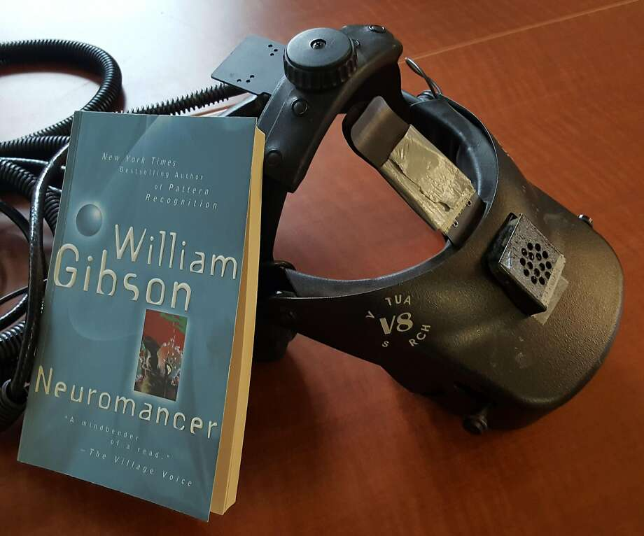 """""""Neuromancer"""" with a head-mounted display that Jeremy Bailenson used in 1999. Photo: Jeremy Bailenson"""