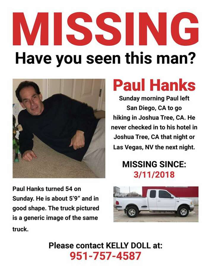 Paul Hanks, a 54-year-old attorney from Santee, Calif., survived for five days in Joshua Tree National Park after falling 20 feet. The hiker says he drank his own urine and ate cacti for nourishment. Photo: Joshua Tree Search And Rescue