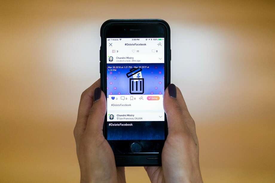 Time to delete your Facebook account? Only if you can. Photo: Beck Diefenbach, Special To The Chronicle