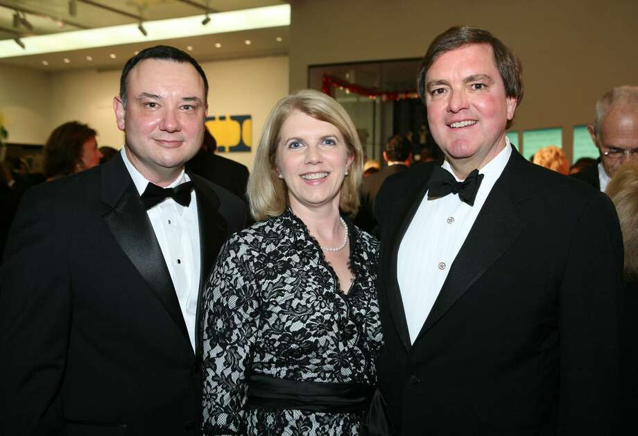 OTS/HEIDBRINK - Rene Barilleaux (accent on E in Rene, McNay chief curator), Alethea Bugg (spouse) and Bruce Bugg (Tobin Endowment chair/trustee) were at the Keys for a Cause gala on 11/6/2008 at the McNay Art Museum. This is #1 of 2 photos. names checked photo by leland a. outz Photo: LELAND A. OUTZ, FREELANCER / SPECIAL TO THE EXPRESS-NEWS / SAN ANTONIO EXPRESS-NEWS