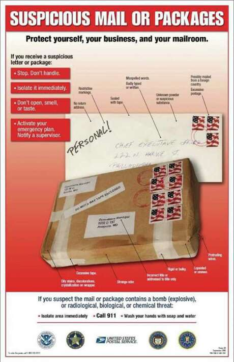 Here's what to look for if you think you've received a suspicious package. Photo: San Antonio Police Department