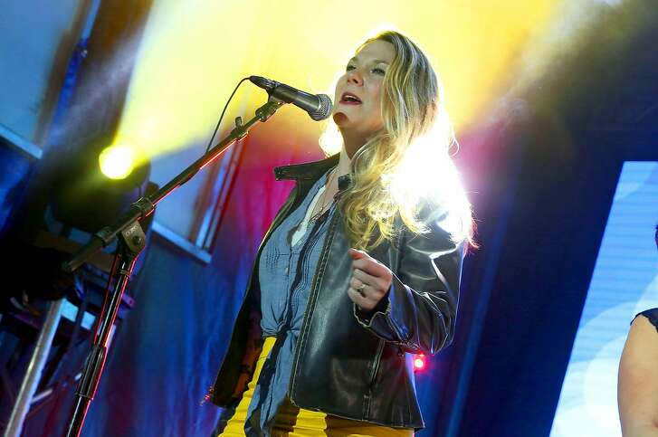 AUSTIN, TX - MARCH 20:  Celia Woodsmith of Della Mae performs onstage during the PANDORA Discovery Den SXSW on March 20, 2015 in Austin, Texas.  (Photo by Rachel Murray/Getty Images for PANDORA Media)