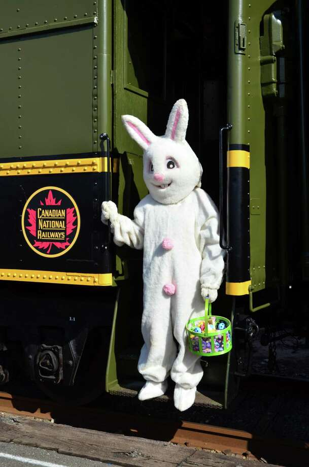 The Railroad Museum of New England welcomes the Easter Bunny on weekends this month. Photo: Contributed Photo/Railroad Museum Of New England / 2013 H.Pincus