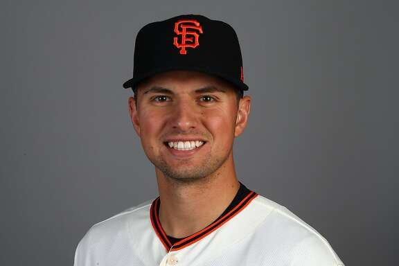 This is a 2018 photo of Joe Panik of the San Francisco Giants baseball team. This image reflects the 2018 active roster as of Feb. 20, when this image was taken. (AP Photo/Ben Margot)