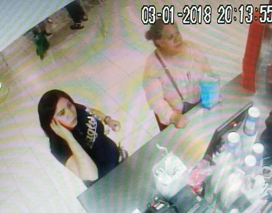 Authorities said that these two women took a purse from a table in the food court area at Mall Del Norte. Photo: Courtesy Photo /Laredo Police Department