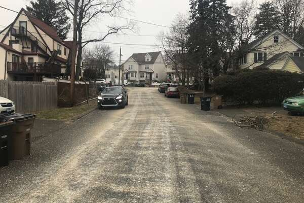 Sand and gravel down on Ardsley Road near Strawberry Hill in Stamford on Wednesday morning, March 21, 2018.