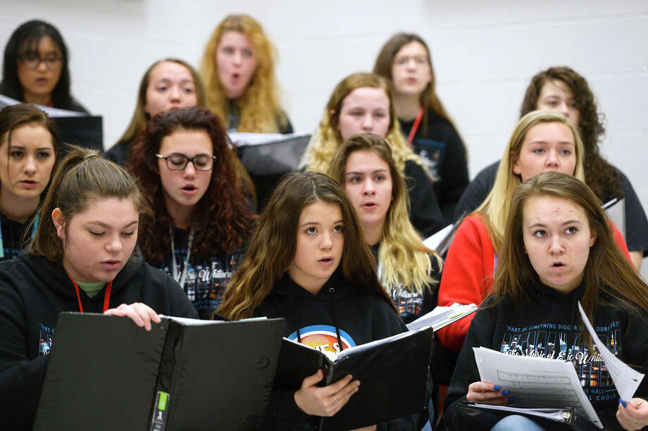 Lumberton High School choir students sing in class on Tuesday. The choir will be performing at Carnegie Hall on April 8.  Photo taken Tuesday 3/20/18 Ryan Pelham/The Enterprise Photo: Ryan Pelham / ©2017 The Beaumont Enterprise/Ryan Pelham