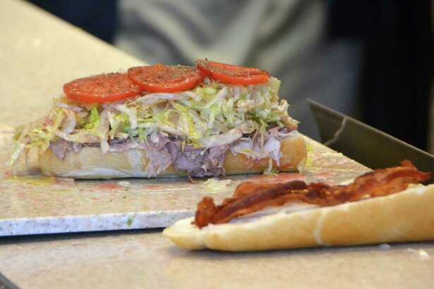 """The """"Club Sub"""" is one of Jersey Mike's Subs' sandwiches available. Jersey Mike's Subs, started in 1956, opened in Derby, Conn. on July 15."""