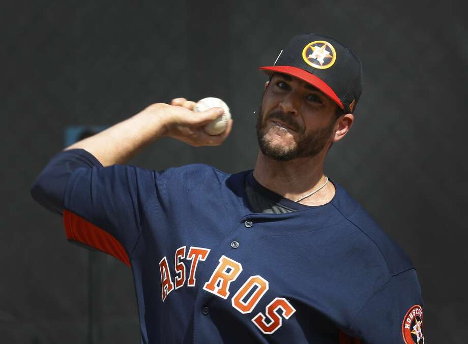 Houston Astros RHP pitcher James Hoyt (51) throws a bullpen session as the pitchers and catchers worked out for the first time during spring training at The Ballpark of the Palm Beaches, Wednesday, Feb. 14, 2018, in West Palm Beach.   ( Karen Warren / Houston Chronicle ) Photo: Karen Warren/Houston Chronicle
