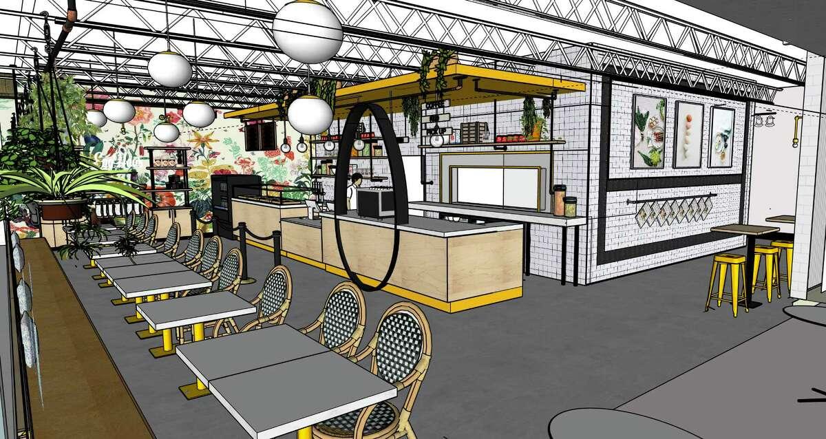 Renderings of Egghaus Gourmet, a new breakfast restaurant from Hans and Philipp Sitter, owners of King's BierHaus and King's Biergarten.