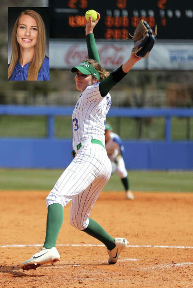 Kentucky Wildcats pitcher Grace Baalman delivers to the plate on a St. Patrick's day win over No. 8-ranked LSU in Lexington, Ky. Baalman was named the SEC Freshman of the Week after posting two wins in the circle for the Cats. The 2017 Telegraph Player of the Year with the Calhoun Warriors threw a midweek game in which UK won 15-2 against Indiana. Baalman went the distance, allowing just two runs for her eighth win of the season. She then won her first SEC game, taking a shutout to the seventh inning and throwing a complete game with zero walks against LSU in Kentucky's 4-1 win in the first game of a two-game series sweep. For the season, the 6-foot-2 right-hander is 9-2 with a 1.56 ERA in 62 2/3 innings to lead the staff in all three categories. Kentucky is 19-6 and ranked No. 18 in the country. Photo: UK Athletics