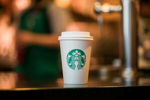 Starbucks announced it would commit $10 million toward developing a greener coffee cup.