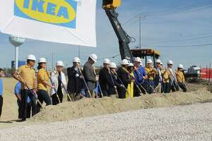 Live Oak city officials and IKEA representatives broke ground on the new store, located at I-35 and Loop 1604. The store is slated to open spring 2019.